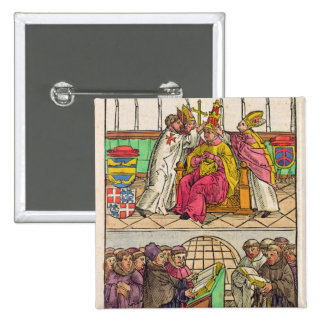 Pope Martin V is installed to the Papacy 2 Inch Square Button