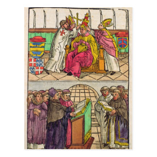 Pope Martin V is installed to the Papacy Postcard