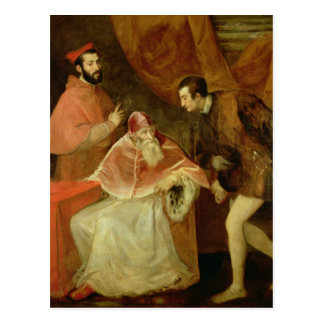 Pope Paul III and his Nephews 1545 Post Card