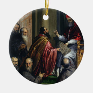 Pope Paul IV Handing over a Statute Ceramic Ornament