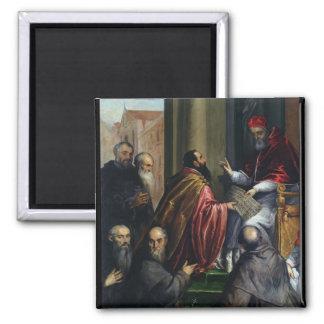 Pope Paul IV Handing over a Statute Magnet