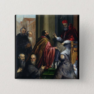 Pope Paul IV Handing over a Statute Pinback Button