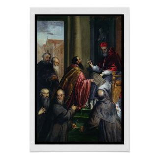 Pope Paul IV Handing over a Statute Poster