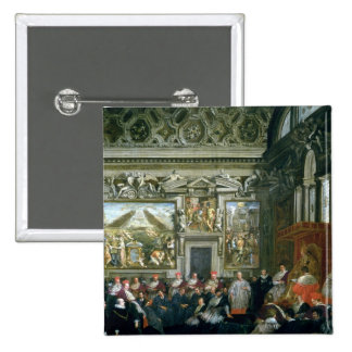 Pope Paul V  with an Audience, 1620 Button