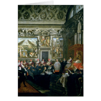 Pope Paul V  with an Audience, 1620 Card