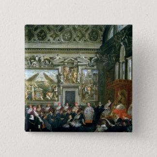 Pope Paul V  with an Audience, 1620 Pinback Button