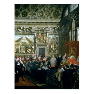 Pope Paul V  with an Audience, 1620 Postcard