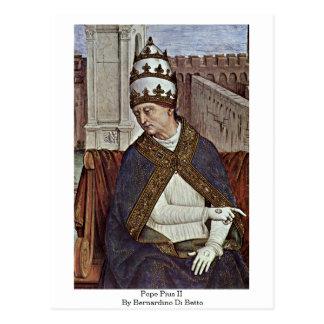 Pope Pius Ii By Bernardino Di Betto Postcard