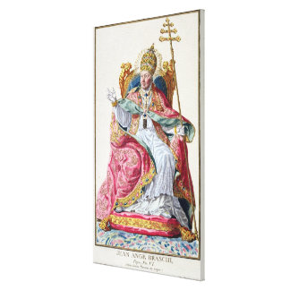 Pope Pius VI (1717-99) from 'Receuil des Estampes, Canvas Print