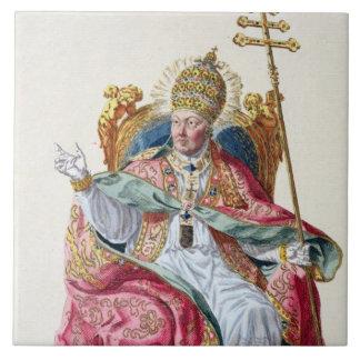 Pope Pius VI (1717-99) from 'Receuil des Estampes, Ceramic Tile