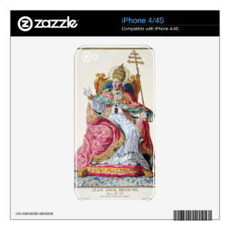 Pope Pius VI (1717-99) from 'Receuil des Estampes, iPhone 4 Decal