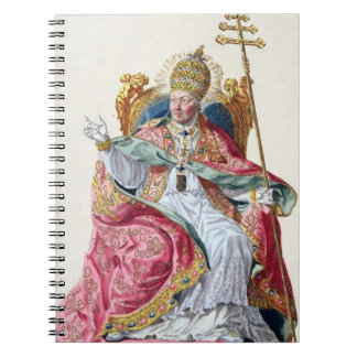 Pope Pius VI (1717-99) from 'Receuil des Estampes, Notebook