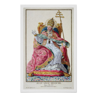 Pope Pius VI (1717-99) from 'Receuil des Estampes, Poster