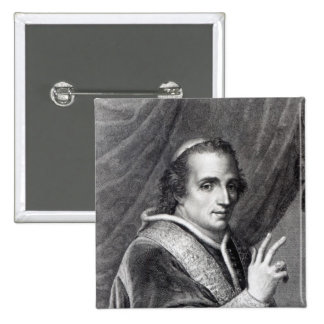 Pope Pius VII, engraved by Rafaello Morghen 2 Inch Square Button
