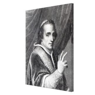 Pope Pius VII, engraved by Rafaello Morghen Canvas Print