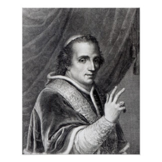 Pope Pius VII, engraved by Rafaello Morghen Poster