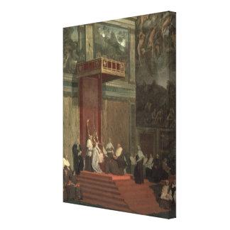 Pope Pius VII (Luigi Barnaba Chiaramonti) (1742-18 Canvas Print