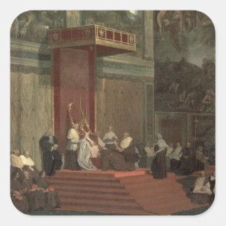 Pope Pius VII (Luigi Barnaba Chiaramonti) (1742-18 Square Sticker