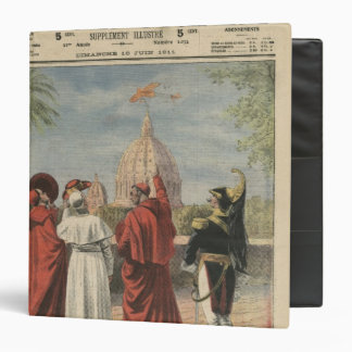 Pope Pius X watching  airplane of Andre Beaumont Binder