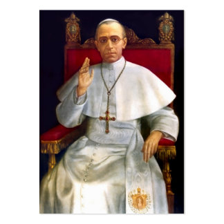 Pope Pius XII Prayer-card Large Business Card