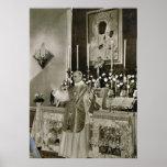 Pope Pius XII saying Mass, Castel Gandolfo Poster