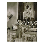 Pope Pius XII, saying Mass Post Card