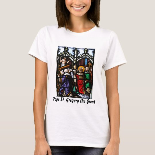 Pope Saint Gregory the Great  Giving Mass T-Shirt