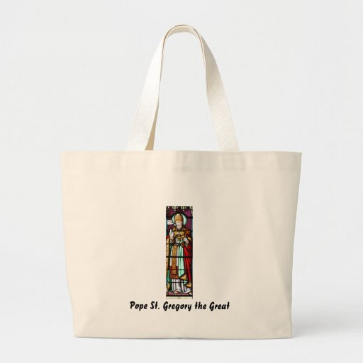 Pope Saint Gregory the Great - Stained Glass Jumbo Tote Bag