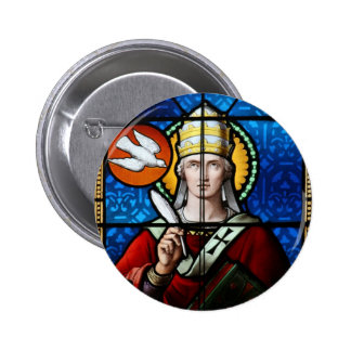 Pope Saint Gregory the Great - Stained Glass Pins