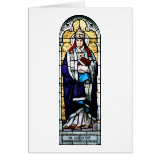Pope Saint Gregory the Great - Stained Glass Card