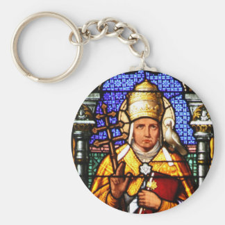 Pope Saint Gregory the Great - Stained Glass Keychain