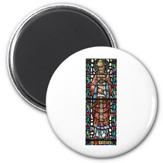 Pope Saint Gregory the Great - Stained Glass Magnet