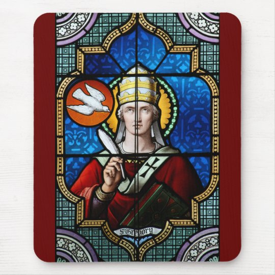 Pope Saint Gregory the Great - Stained Glass Mouse Pad