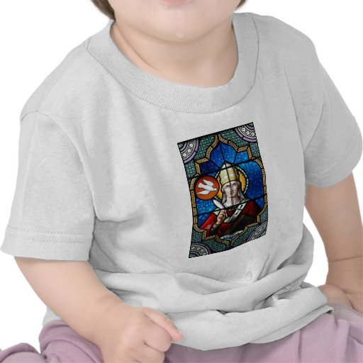 Pope Saint Gregory the Great - Stained Glass T Shirts
