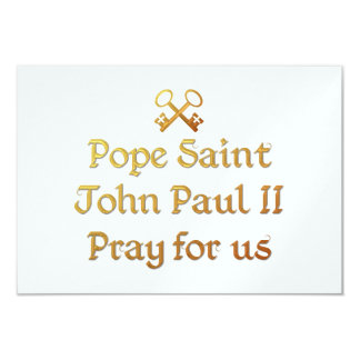 Pope Saint John Paul II Pray for us Card