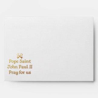 Pope Saint John Paul II Pray for us Envelope