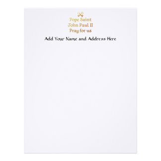 Pope Saint John Paul II Pray for us Letterhead