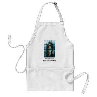 Pope Saint Pius X Stained Glass Art Adult Apron