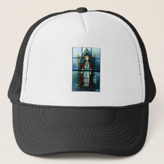 Pope Saint Pius X Stained Glass Art Trucker Hat