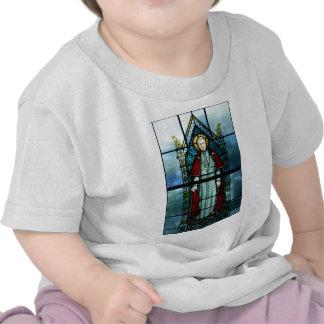 Pope Saint Pius X Stained Glass Art Tshirt