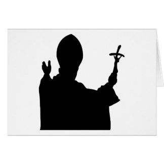 Pope Silhouette Stationery Note Card