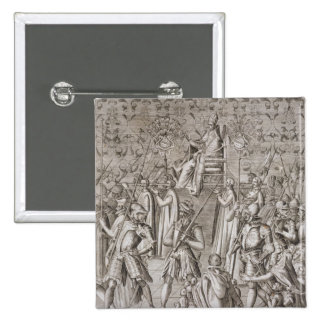 Pope Sixtus V (1521-90) is carried to the Ceremony Button
