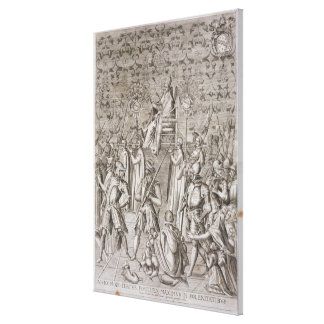Pope Sixtus V (1521-90) is carried to the Ceremony Canvas Print