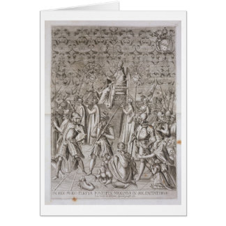 Pope Sixtus V (1521-90) is carried to the Ceremony Greeting Card