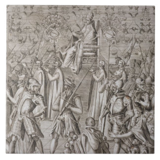Pope Sixtus V (1521-90) is carried to the Ceremony Ceramic Tile