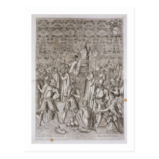 Pope Sixtus V (1521-90) is carried to the Ceremony Postcard