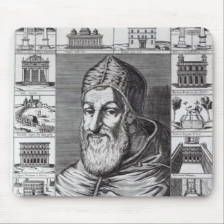 Pope Sixtus V, surrounded by the churches Mouse Pad