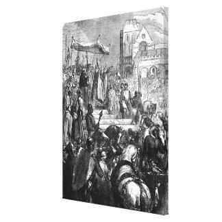Pope Urban II  Preaching the First Crusade Canvas Print
