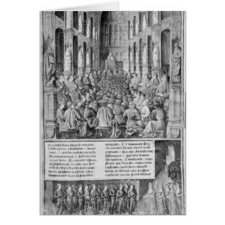 Pope Urban II  reconquest  Holy Sepulchre Church Greeting Card