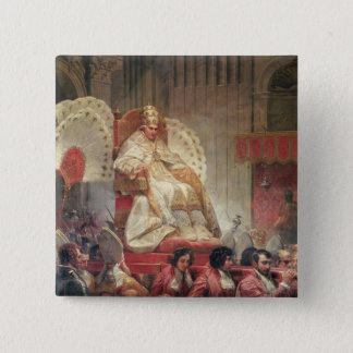 Pope VIII  in St. Peter's on the Sedia Gestatoria Button
